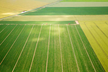 Aerial photograph area on agriculture