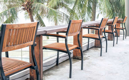 wooden chairs photo