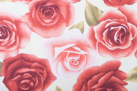 Vintage floral fabric photo