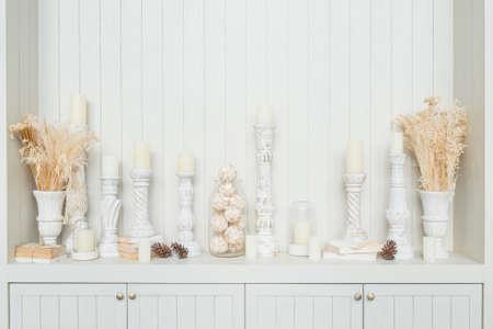 candlestick: candlestick decoration Stock Photo
