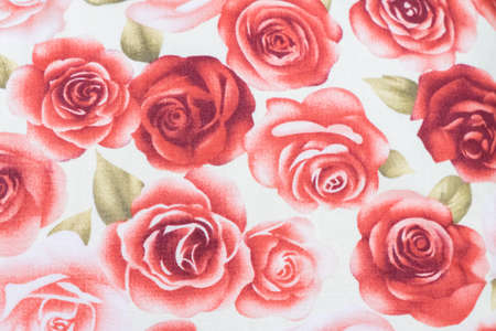 sateen: Vintage floral fabric