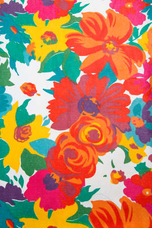 Colorful floral fabric photo