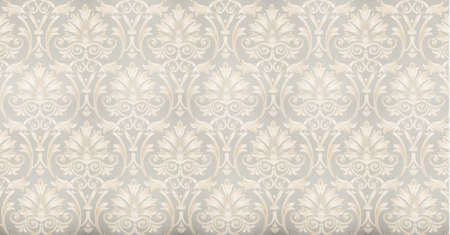 cool retro floral wallpaper in tan and brown design photo