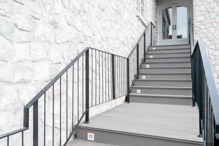 Modern Cement stairs photo