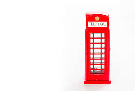 British red phone booth (isolated on white and clipping path)