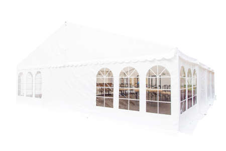 wedding tent: White banquet wedding tent or party tent