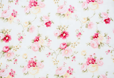 red floral: Vintage floral fabric
