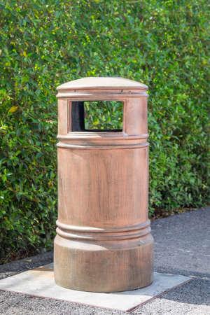environmentalist: dust bin in garden Stock Photo