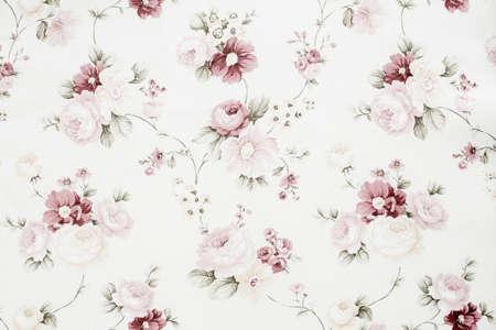 Tela floral del vintage Foto de archivo