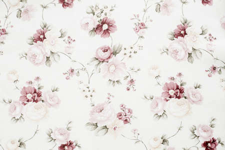 Vintage floral fabric Stock Photo - 37113681