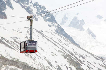 Chamonix red cable car