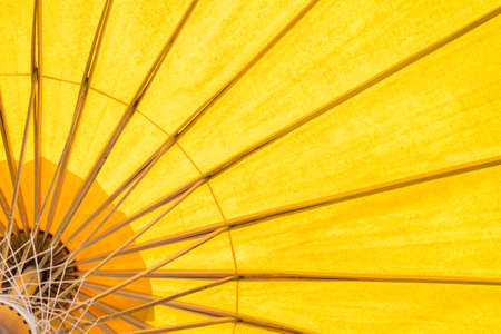 yellow umbrella background Stock Photo