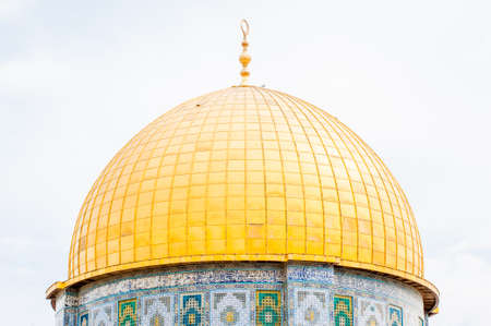 pilgrim journey: Dome of the rock in the old city of jerusalem , Israel