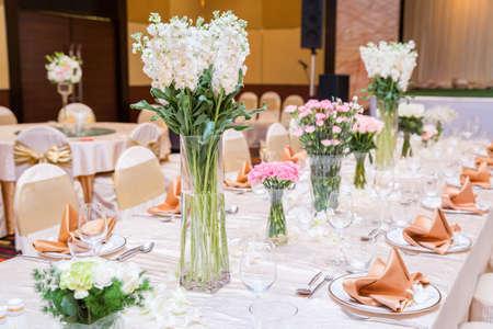 centerpiece: Wedding table setting