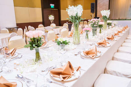 Wedding table setting Stock Photo - 41543796