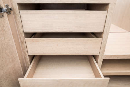 drawers: opened empty drawers