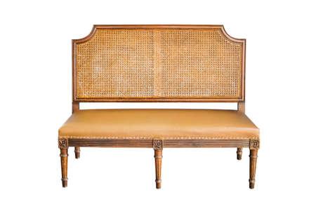 vintage sofa isolate on white background photo