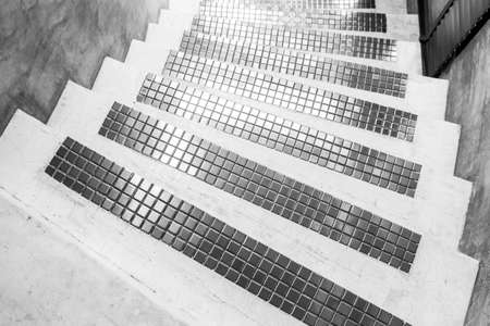 Modern Cement with  mosaic stairs photo