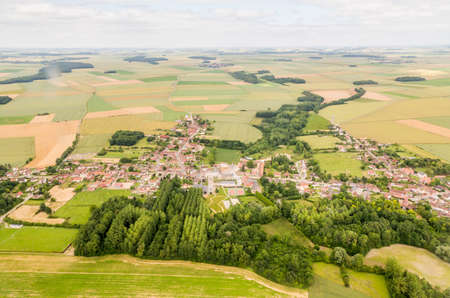 aerial photograph: Aerial photograph area on agriculture and village