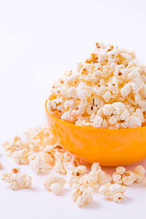 Bowl of popcorn, isolated