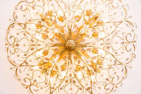 chandelier in classic room shining Stock fotó