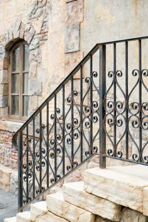 Ornate handrail of wrought iron Stock Photo - 45938473