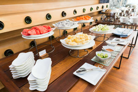 digesting: Fruit on the buffet table Stock Photo