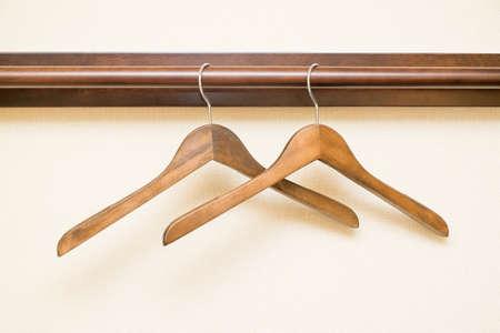 hangers: wooden clothes hangers