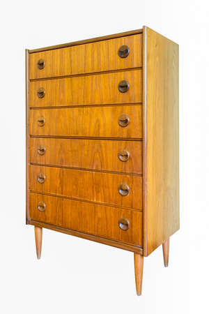 drawers: Chest of drawers isolate on white background