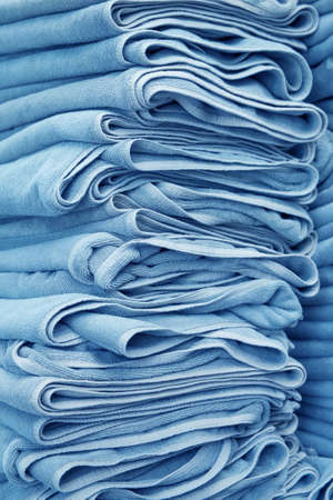stacked: Stacked gray spa towels Stock Photo