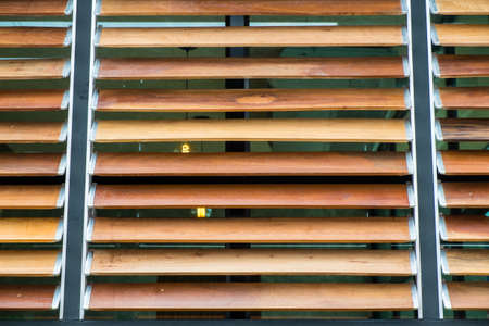 louver: wooden louver isolate on white background