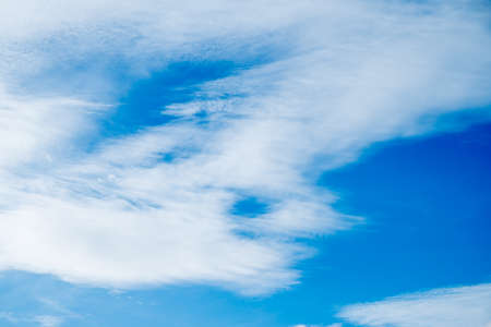 bluesky: clouds in the blue-sky Stock Photo