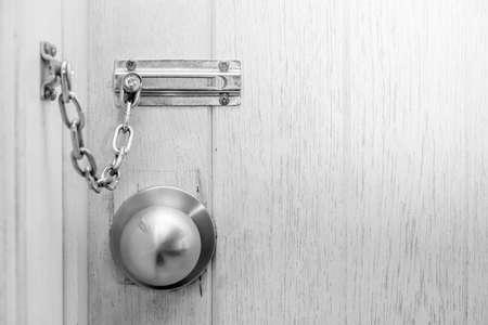 keep gate closed: Modren style door handle locked wooden door