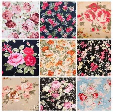 nosegay: Set of Vintage floral fabric