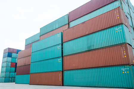 container box: Cargo containers Stock Photo