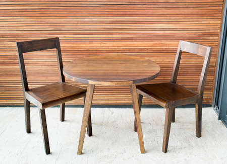 dining table: Wooden dining table