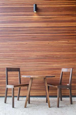 modern interior design: Wooden dining table