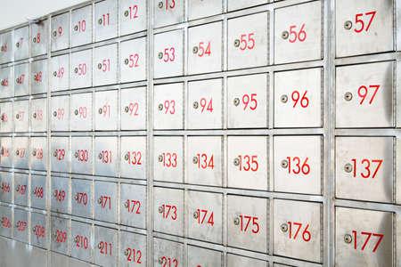 public address: Post box locker with number