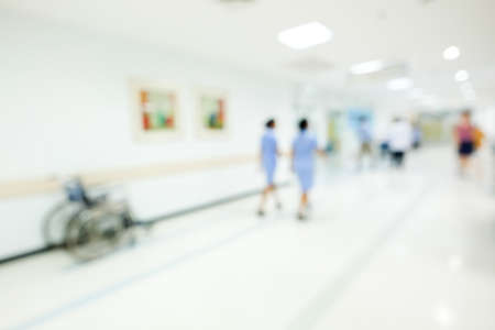Hospital patients waiting for interrogation, abstract background. Stock Photo