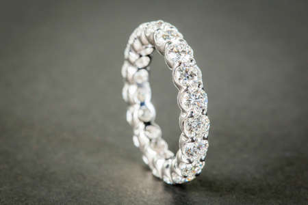 diamond rings: Wedding diamond rings on the black background Stock Photo
