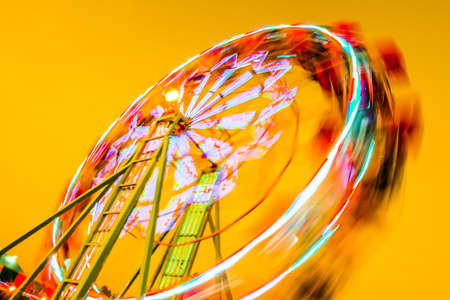 Abstract Blur Ferris wheel in park