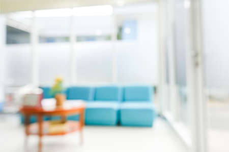 Blurry of health care reception Stock Photo