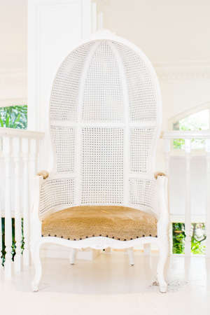 old styled: Old styled white vintage armchair
