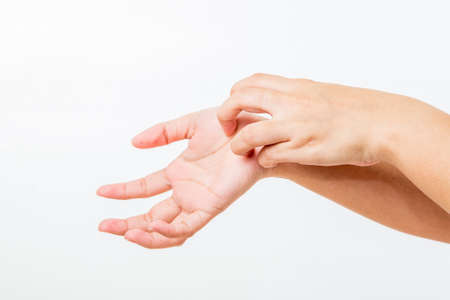 lady hand: Itching In A Woman