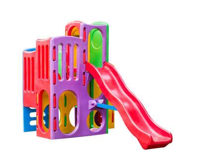 jardin de ni�os: Patio colorido para los ni�os. Aislado en blanco