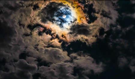 nightly: nightly sky with moon