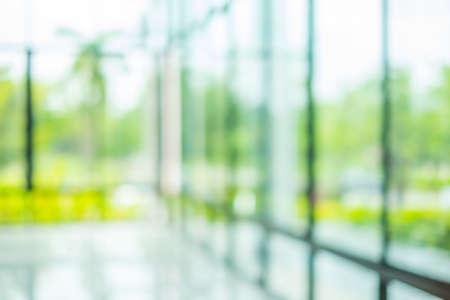 Blur innerhalb Bürogebäude mit Bokeh hellem Hintergrund