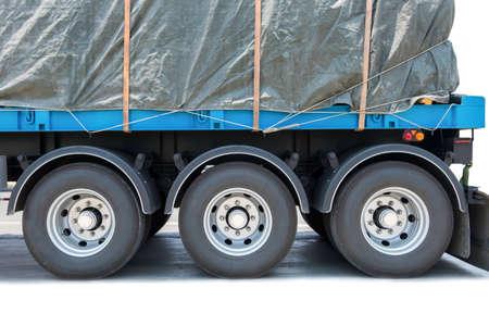 Close up of truck wheels Stok Fotoğraf