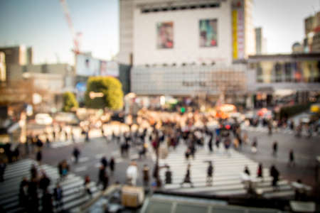 crowded street: Crowded street in Japan, blurred background