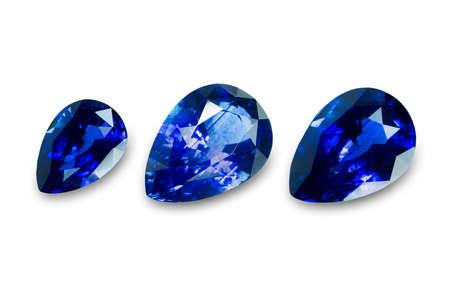 dazzlingly: Set of blue sapphire gemstone. Gems different cut
